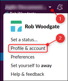 The Profile & account option