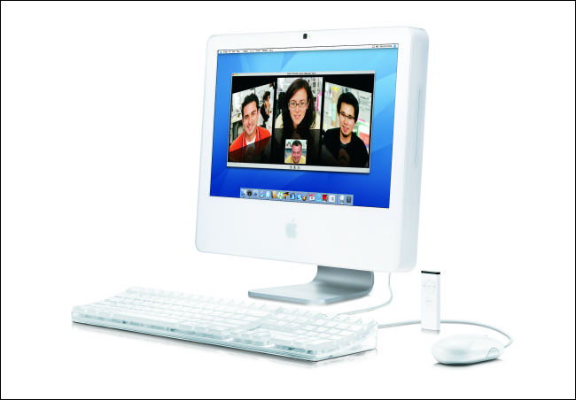 An early 2006 Apple iMac with an Intel CPU.