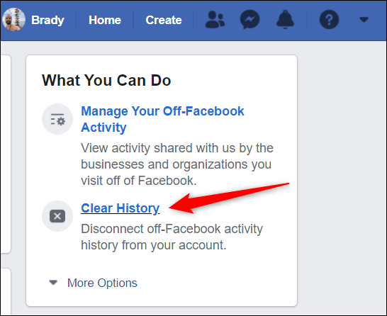 Click Clear history from the right side of the page.