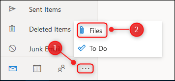 The Files icon on the menu.