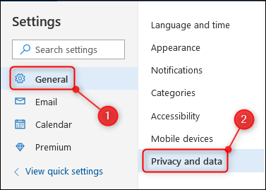 The Privacy and data option