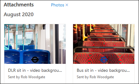 Images displayed in the Tiles view mode.