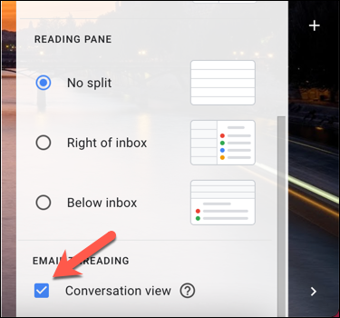In Gmail's Quick Settings panel, uncheck the Conversation View option to disable this view.