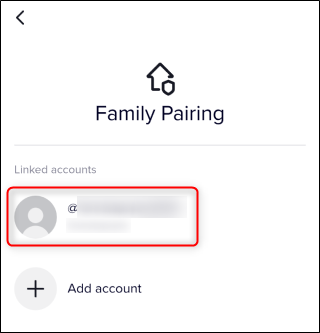 The Linked Accounts section under Family Pairing.