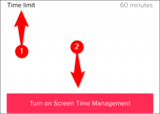 Tap Time Limit, choose a time limit, and then tap Turn on Screen Time Management.