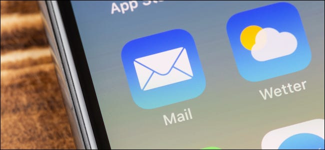 Apple Mail app icon on an iPhone
