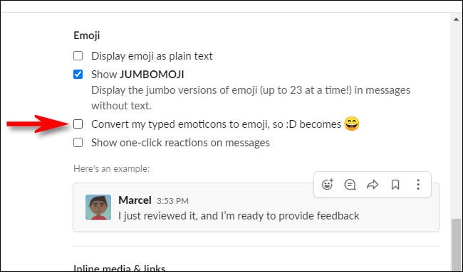In Slack Preferences, uncheck Convert my typed emoticons to emoji.