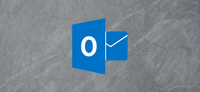 Microsoft Outlook logo on a gray background