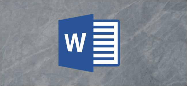 The Microsoft Word logo on a gray background